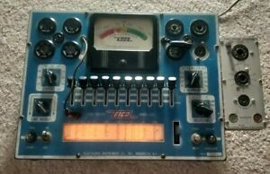 Eico Model 625 Tube Tester With Eico Adapter 610 Powers On No Other Testing