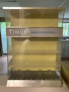 Vintage Timex Watch Display Case With Shelves Mid Century 1960s Shape