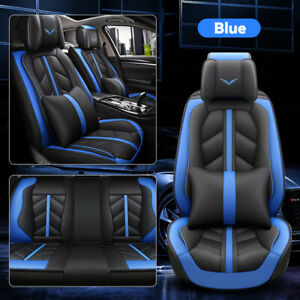 Universal Leather Car Seat Cover 5 sits Front Rear Full Set Waterproof Cushion