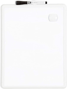 U Brands Contempo Magnetic 11 X 14 Dry Erase Board White Frame Magnet And Ma