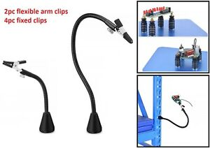 2 4pc Magnetic Soldering Fixed Clip Flexible Arm Alligator Holder Auxiliary Tool