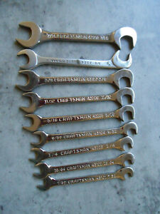 Craftsman Wrench Lot Of 8 Tools 716 To 732 1 Proto 38 Forged Made In Usa