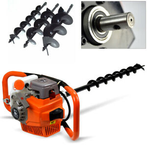 71cc Gas Powered Earth Auger Post Hole Digger Drill Bits 4 6 8 12 Bar Usa