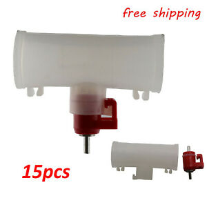 15x Poultry Water Drinking Cups Nipple Automatic Water Drinking three way Valve