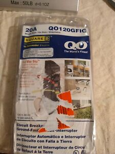 Square D Qo120gfic 20 Amp Ground Fault Circuit Interrupters Single Pole New a