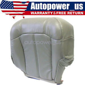 For 1999 2000 01 2002 Chevy Tahoe Suburban Driver Bottom Seat Cover Pewter Gray Fits Tahoe