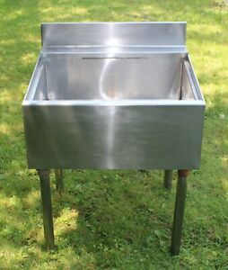 Stainless Steel Utility Sink 23 1 2 Wide Single Bowl Commercial Sink