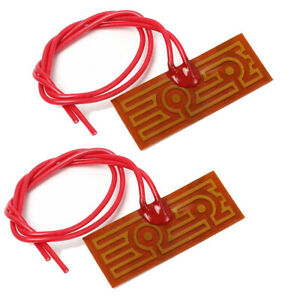 2pcs 19x49mm 12v 20w Pi Polyimide Heating Film Heating Plate Adhesive Heater Pad