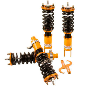Set Of 4 Coilovers Kits For Honda Civic Crx 1988 1989 1991 Shock Absorber Struts