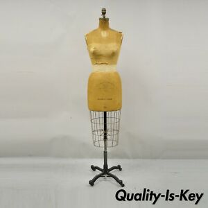 Antique Wolf Model 1960 Womens Cast Iron Cage Dress Form Size 10
