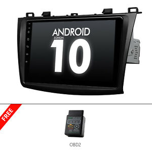 Obd2 9 Android 10 Car Stereo Gps Radio Bluetooth Touchscreen For Mazda 3 2012