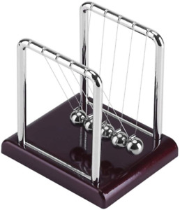 Classic Newtons Cradle Balance Balls With Plastic Base Demonstrate Newtons Laws