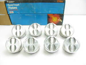 Trw L2403nf 40 Forged Pistons 8 pack Dish For Chevy 350 5 7 040 Size