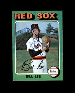 Bill Lee Hand Signed 1975 Topps Boston Red Sox Autograph $10.00