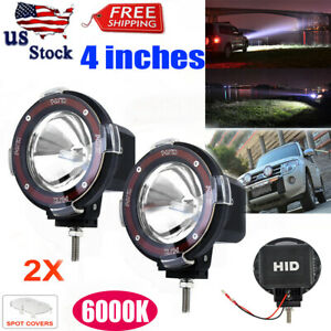 1pair 4 Truck Suv 4wd Offroad Hid Light 6000k Xenon Fog Driving Working Lamps