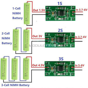 Nimh Rechargeable Battery Charger Module 1s 2s 3s Dc 3 5 6v 1a To Dc1 5v 3v 4 5v