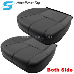 Driver Passenger Side Bottom Leather Seat Cover For 2007 2014 Chevy Silverado