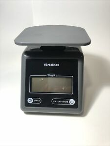 Brecknell Electronic Postal Scale 7 Lbs Capacity Platform Gray sbwps7gray