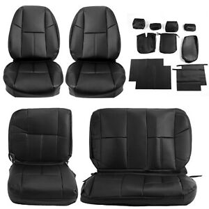 Front Rear Set Seat Covers For 07 13 Chevy Silverado 1500 Ls Lt Ltz Extended Cab Fits 2009 Chevrolet Silverado 1500 Lt