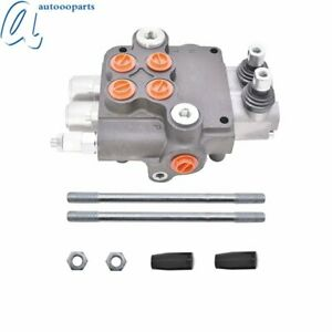 21 Gpm 3600 Psi Sae Ports 2 Spool Hydraulic Control Valve Double Acting