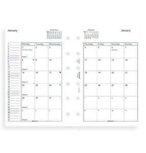 2022 Filofax Pocket Month On 2 Pages Diary calendar 68210