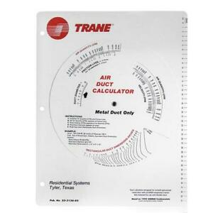 New Improved Trane Ductulator Duct Calculator With Formulas Metal Duct