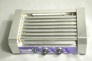 Commercial Double Temperature Control 7 Roller Hot Dog Grill Cooker Machine 220v