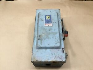 Square D 30 Amp Heavy Duty Fusible Safety Switch 30a 06b13pr3