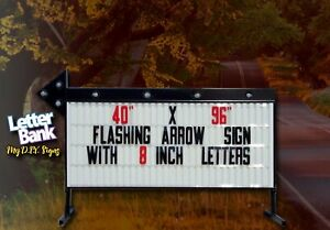 40 X 96 A7s Colorful Arrow Portable Readerboard Sign Lighted On Stands