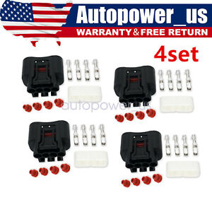4sets Ignition Coil Plug Connector For Lexus Toyota Yaris Camry