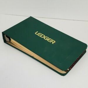 Boorum And Pease No 1000a Ledger 4 Ring Green 91 Blank Pages A To Z Tabs Vintage