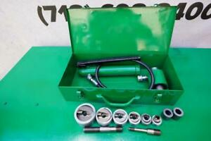 Greenlee Stainless Steel Knockout Hydraulic Punch And Die Set 7306 1 2 To 2 Inch