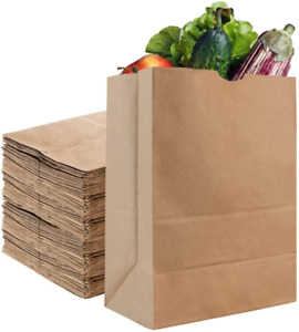 Kraft Brown Grocery Paper Bags 50 Count 52 Lb Large By Stock Your Home