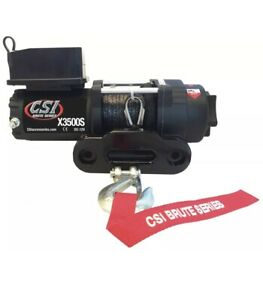 Csi X3500s Synthetic Rope Line Utility Winch Atv Sxs Rzr Can Am 4 Wheeler Warn