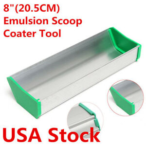 Usa 8 20 5cm Dual Edge Emulsion Scoop Coater For Screen Printing