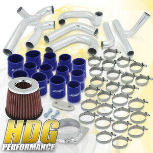 Performance Turbo Charged Racing Fmic Piping Kit Couplers For 94 97 Mustang V6