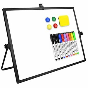 Dry Erase White Board Large Magnetic Desktop Whiteboard 16 x12 With Stand 10 Ma