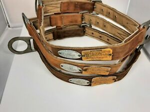 Klein Tools Safety Belt Model 87201 W 2d Rings Size Medium Rare Made In Usa X3