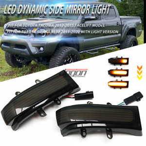 Led Dynamic Side Mirror Sequential Light For Toyota Tacoma 2012 2015 Facelift