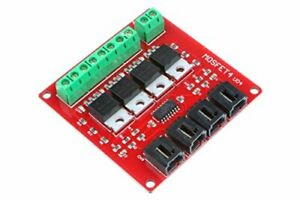 Noyito 4 channel Mosfet Switch Module Irf540 Isolated Power Module 4 channel Red