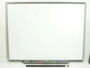 Smart Board Sb680 77 Interactive Whiteboard In Excellent Condition With Pens