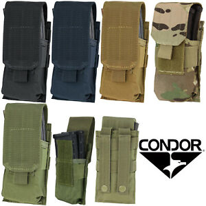 Condor MA5 Tactical MOLLE PALS Modular Closed Top Single Rifle Magazine Pouch $12.94