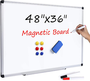 Magnetic Dry Erase Whiteboard 48 X 36 Inch 4 X 3 Large White Board 48 X 36