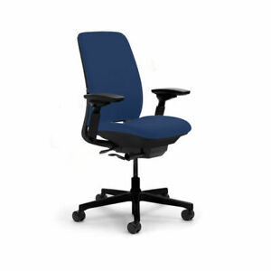Steelcase Amia leap V2 Task Chair Fully Adjustable Blue Fabric