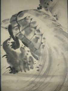 Japanese Painting Hanging Scroll Japan Old Turtle Antique Art E309
