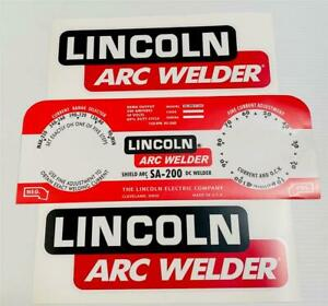 Lincoln Electric Arc Welders Sa 200 163 Red Decal wrap Control Plate Decals