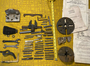 Craftsman Metal Lathe Parts Lot Including Gears And Miscellaneous Items