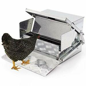 Automatic Chicken Feeder Sturdy Galvanized Steel Poultry Feeders With Weath