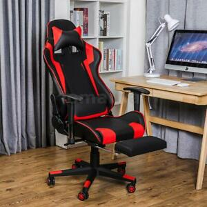 Executive Office Chair Racing Gaming Chair Swivel Computer Desk Seat Recliner Uk