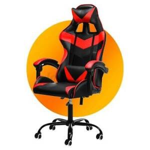 Ergonomic Office Chair Racing Gaming Chair Computer Desk Chairs Leather Recliner